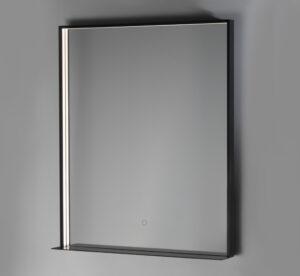 LED-valopeili Fenice IP44 800x600 mattamusta hyllyllä