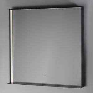 LED-valopeili Fenice IP44 800x800 mattamusta hyllyllä