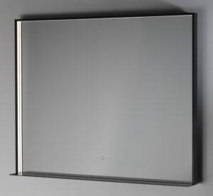 LED-valopeili Fenice IP44 800x1000 mattamusta hyllyllä